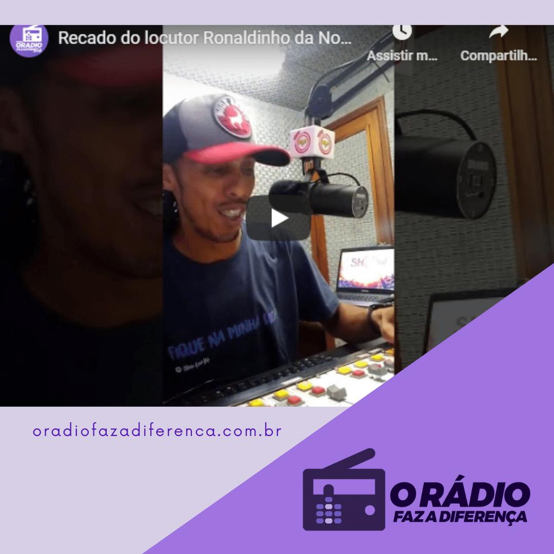 Locutor Ronaldinho Nova Regional FM