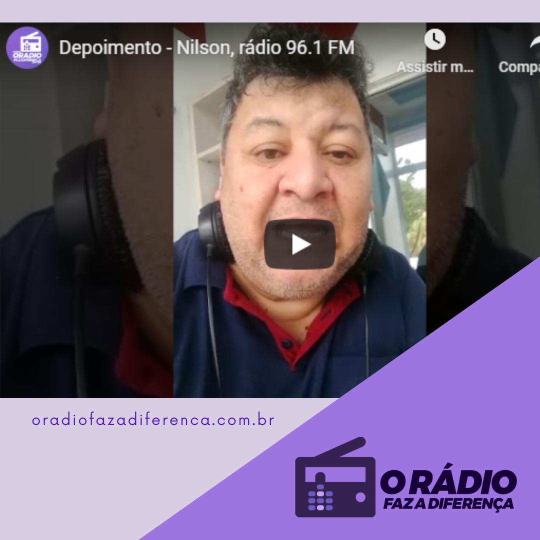 Locutor Nilson da rádio 96,1 FM