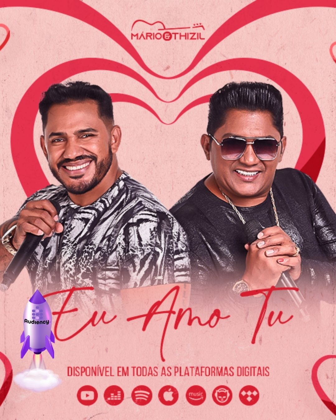 """""""Eu amo tu"""" Mário e Thizil lançamento audiency"""