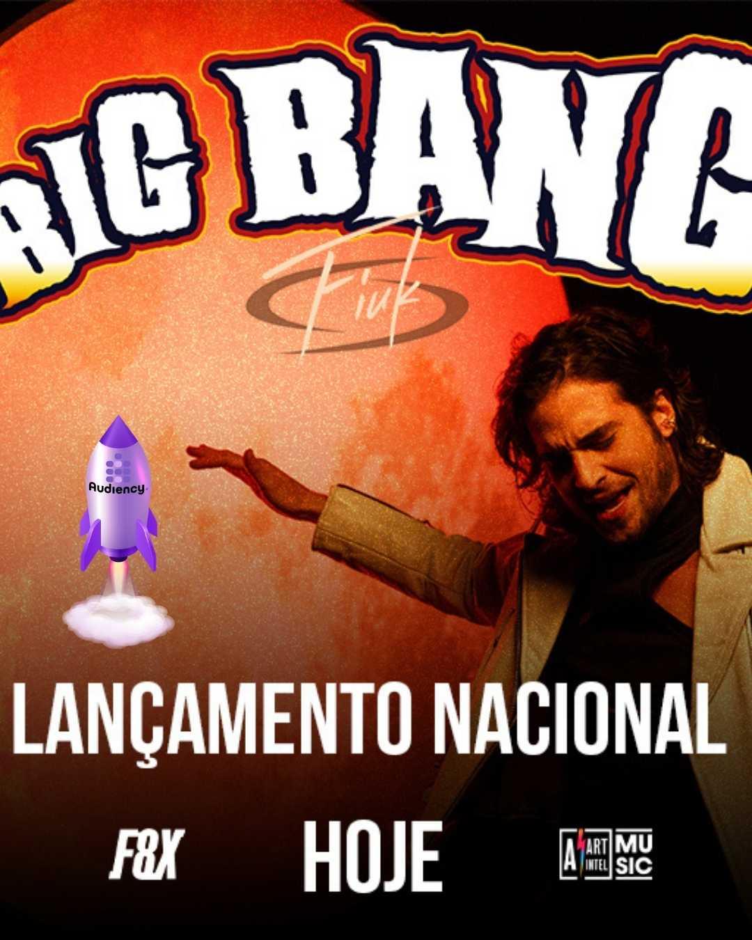 "Fiuk lança ""Big Bang"" nas rádios do Brasil com Audiency"