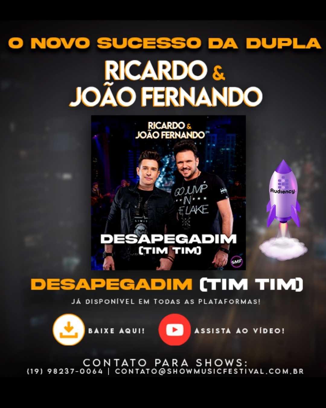 """Ricardo & João Fernando lançam """"Desapegadim"""